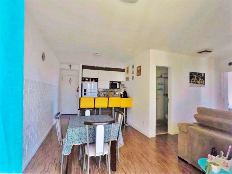 Jabaquara, Apartamento Padrão-Sala integrada (com o 3º quarto), com piso laminado e acesso a varanda.