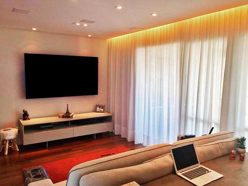 Sacomã, Apartamento Padrão-Sala ampliada (com o 3º quarto), com piso de taquinho, teto com sanca, iluminação embutida e acesso a varanda gourmet.
