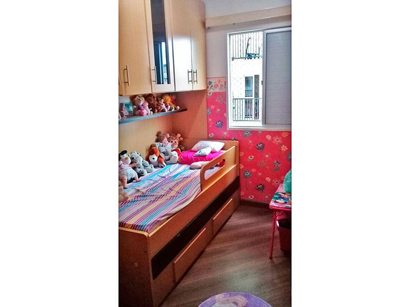 Sacomã, Apartamento Padrão-2º Quarto com piso de madeira.