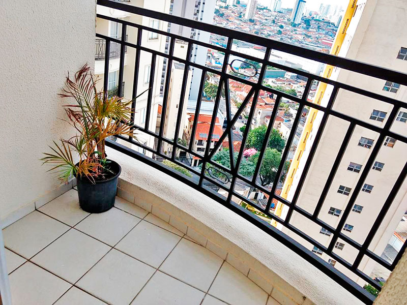 Ipiranga, Apartamento Padrão-Sacadas com piso de cerâmica.