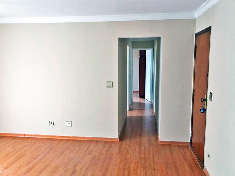 Jabaquara, Apartamento Padrão-Sala em L com piso laminado, teto com moldura de gesso e acesso a varanda.