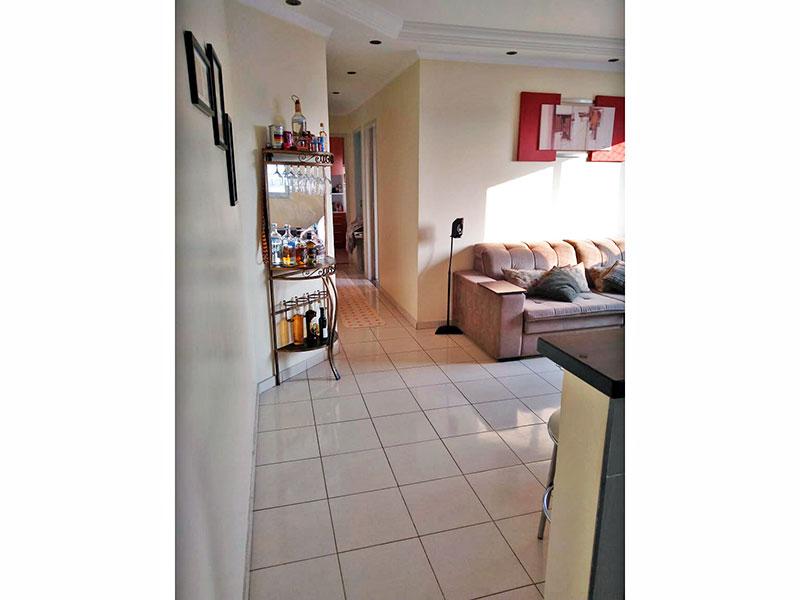 Sacomã, Apartamento Padrão-Sala com piso de cerâmica, teto com sanca de gesso e iluminação embutida.