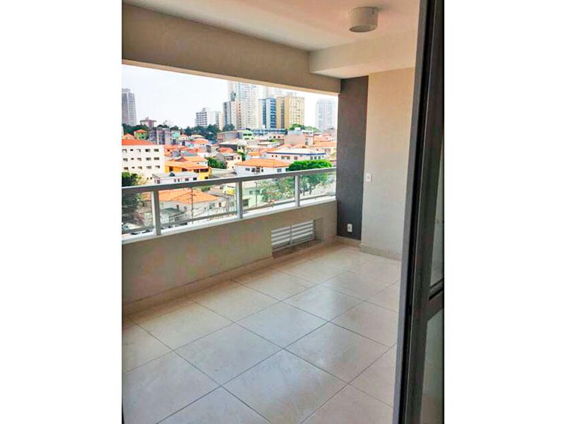 Ipiranga, Studio-Varanda integrada com a área de serviço, com piso de cerâmica.