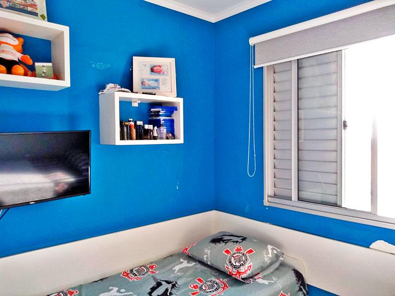 Sacomã, Cobertura-2º Quarto com piso de laminado e teto com moldura de gesso.