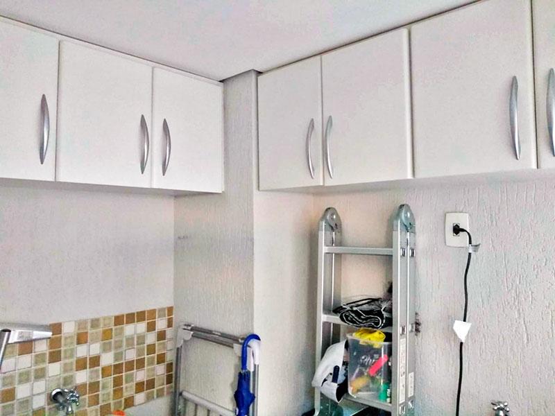 Sacomã, Cobertura-Área de serviço com piso de porcelanato, teto com sanca e acesso a varanda.