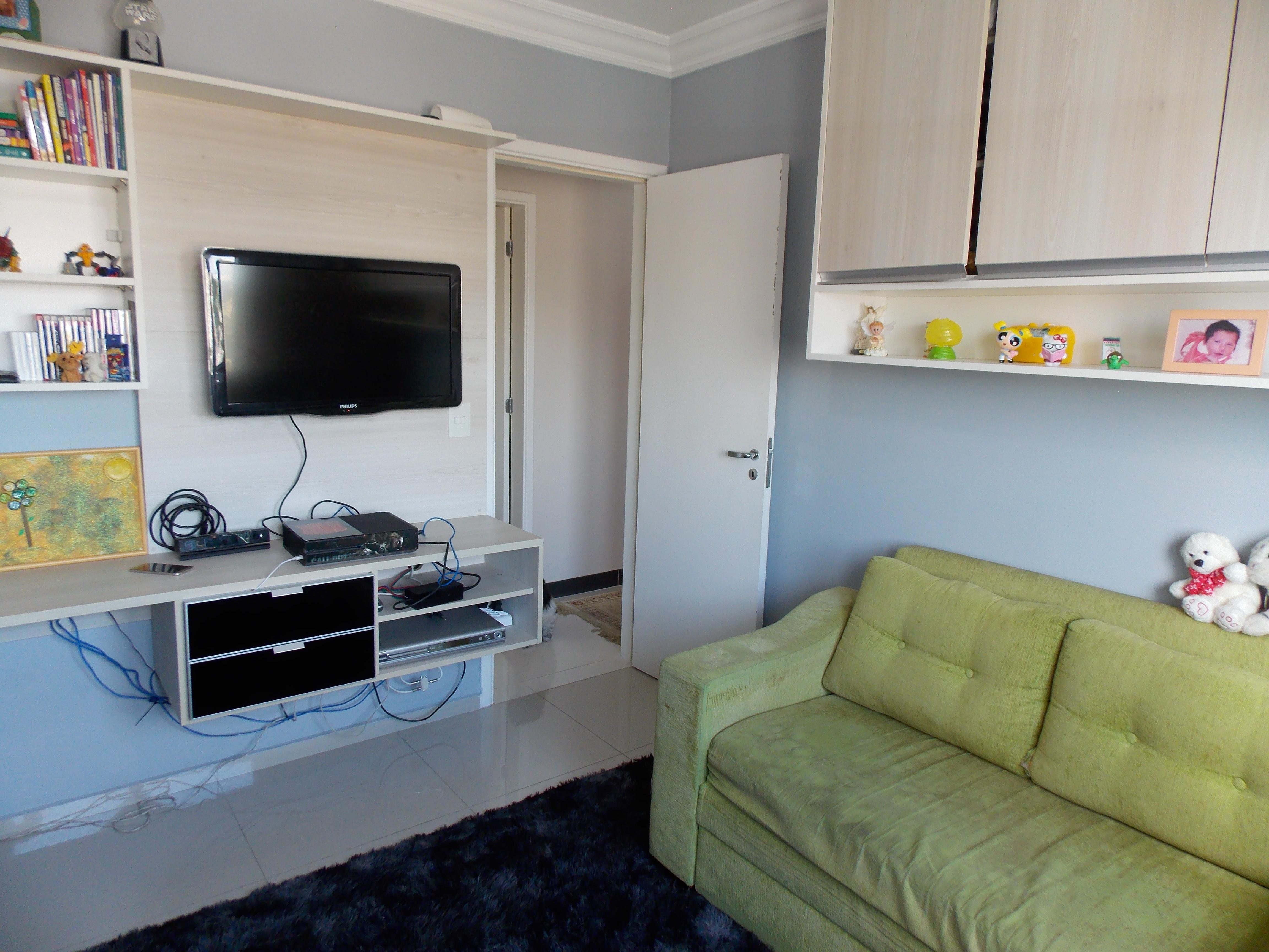 Jabaquara, Apartamento Padrão-3º Dormitório com piso de porcelanato, moldura de gesso e armários planejados