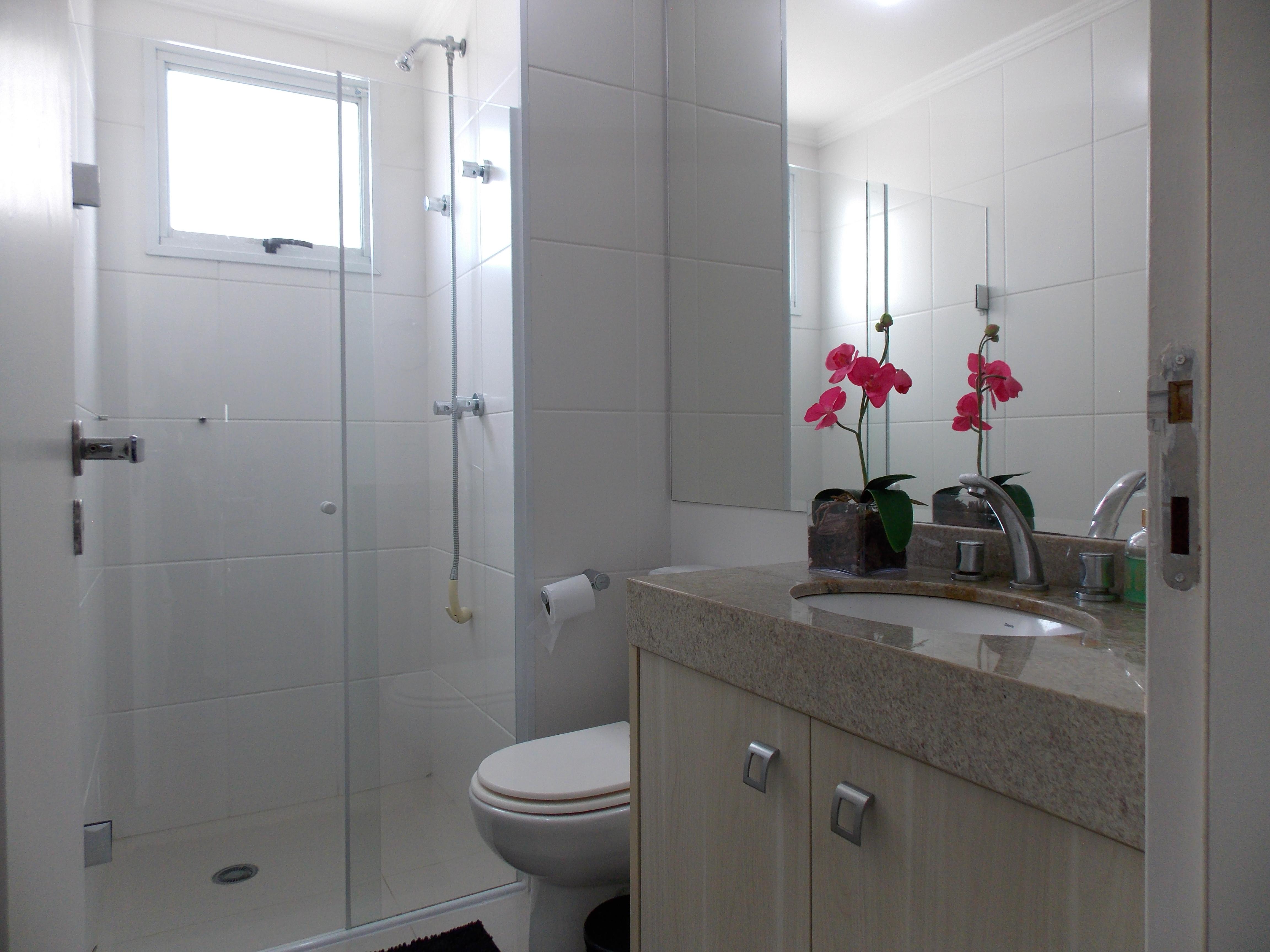 Jabaquara, Apartamento Padrão-Wc sa suíte com pia de granito, piso porcelanato, gabinete e box de vidro
